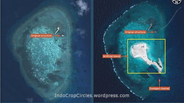 china bangun pulau di spratly