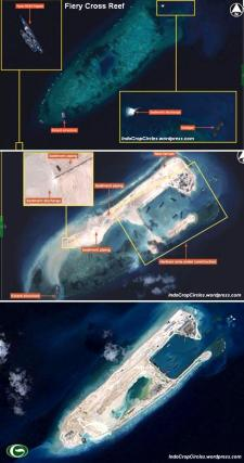 fiery cross reef before after