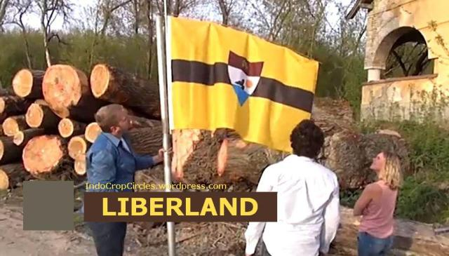 Liberland flag rising