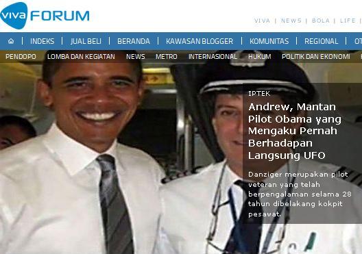 Mantan Pilot Presiden AS Barack Obama Akui Pernah Berpapasan dengan UFO