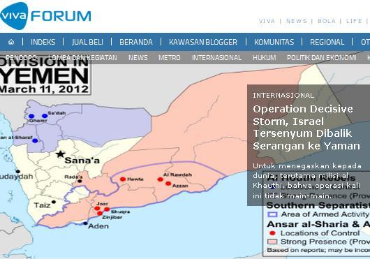 Operation Decisive Storm Ketika Israel Bersorak Saksikan Koalisi Arab Serang Yaman