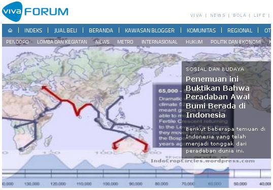 penemuan peradaban berawal dari indonesia
