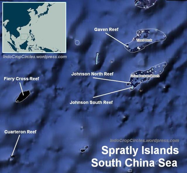 spratley union reef Tizard reef johnson reef