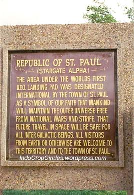 St. Paul Stargate Alpha UFO landing pad