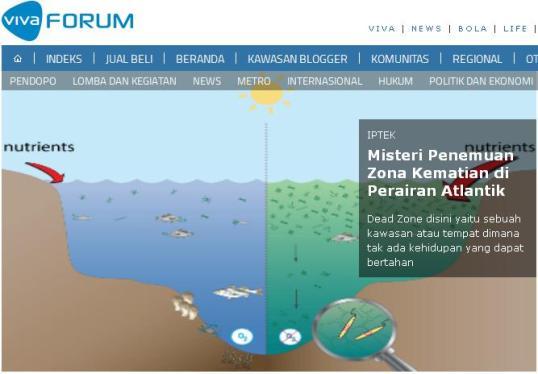 vivanews Zona Kematian di Samudera Atlantik