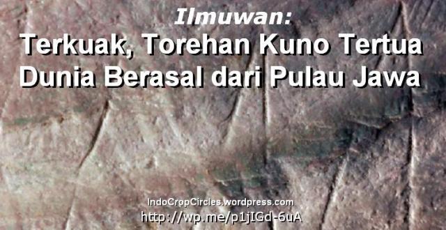 Ukiran torehan tertua di Jawa banner