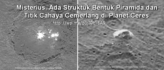 cahaya dan struktur piramid di planet dwarf ceres
