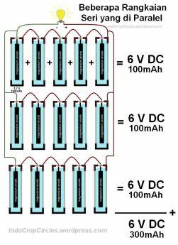 rangkaian paralel magnesium battery