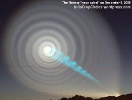 The Norway neon spiral vortex that occurred on December 8, 2009