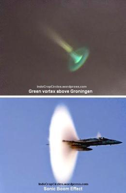 """Edek """"Donic Boom"""" pada pesawat jet terjadi jika pesawat sudah melampaui kecepatan suara."""