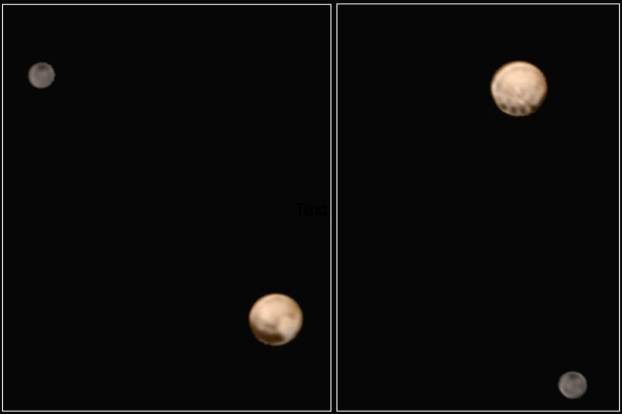 Pluto and Charon by New Horizon (NASA).