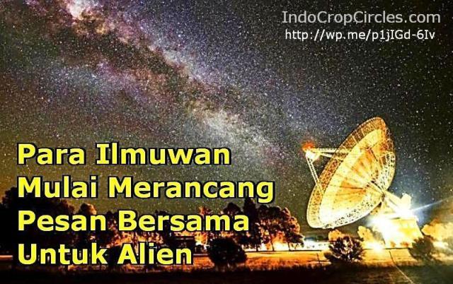ilmuwan rancang pesan utk alien banner