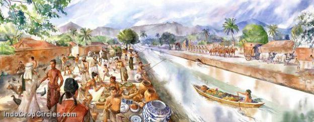 Gambaran kehidupan di tepian kanal metropolitan Majapahit berdasar temuan arkeolog dan catatan semasanya.