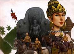 Ratu Tribhuwanatunggadewi Jayawishnuwardhani (penguasa ke-3 Majapahit) beserta pasukannya.