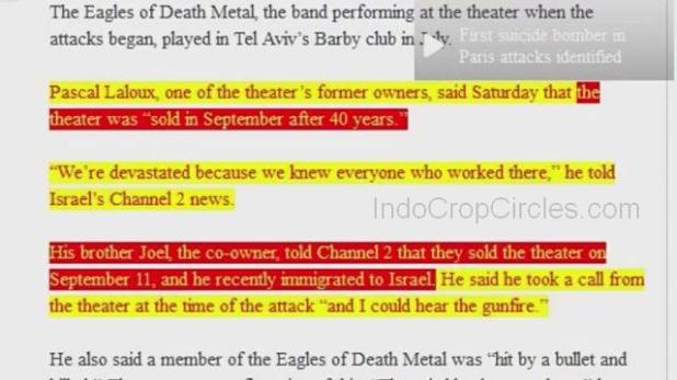 paris attacks false flag bataclan theatre