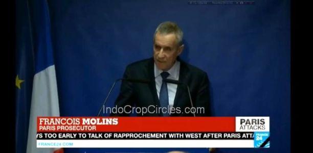 François Molins dalam suatu pernyataan di televisi French24.