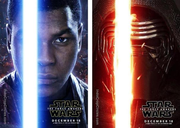 Star Wars - The Force Awakens - Finn and Kylo Ren