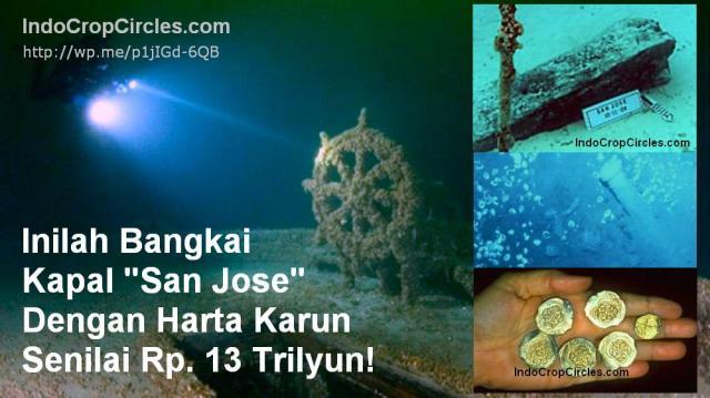 Bangkai kapal karam san jose wreck ship treasure harta karun banner