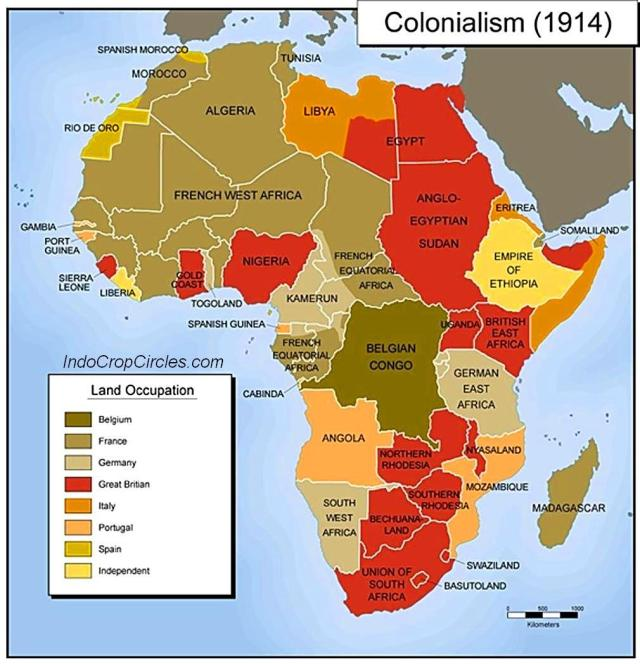 colonialism africa 1914 map
