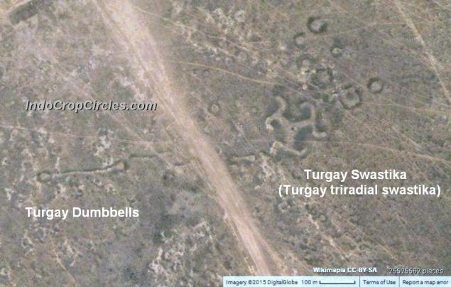 Geoglyphs Kazakhstan Turgay Dumbbells