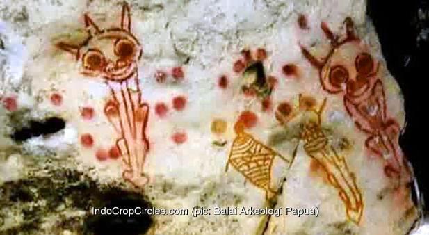 lukisan prasejarah papua-berbentuk-alien 01