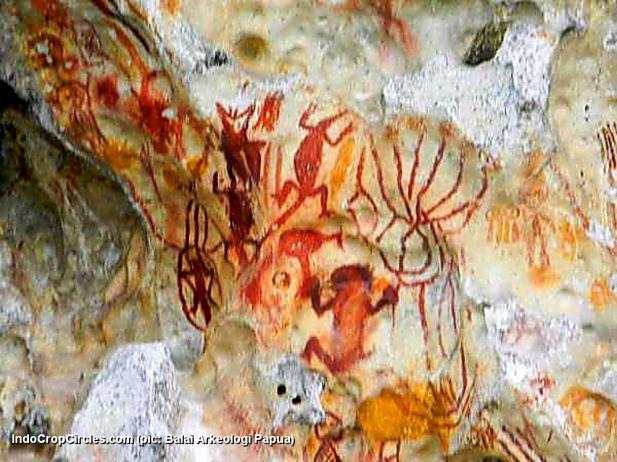 lukisan prasejarah papua-berbentuk-kangkang-alien