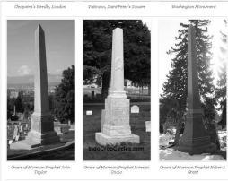Obelisk sebagai batu nisan di kuburan para elite Illuminati.