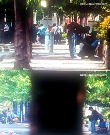 Tampak pada rekaman CCTV para teroris mempersiapkan rencananya dengan santai.