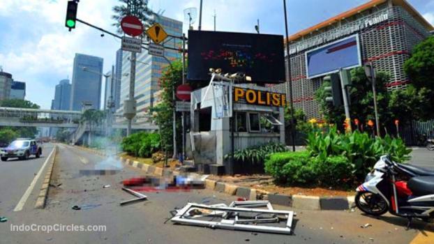 Pos Polisi di perempatan depan gedung Sarinah