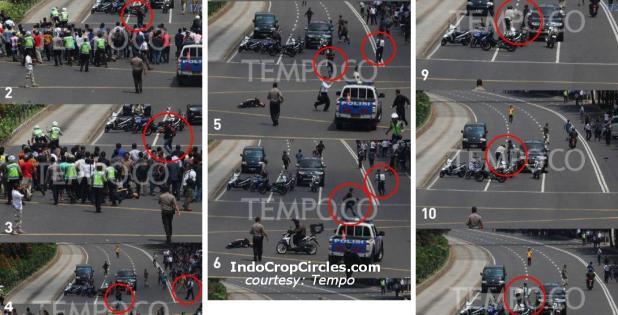 rangkaian penembakan polisi di bom jakarta 2016