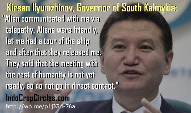 Kirsan Ilyumzhinov alien contact