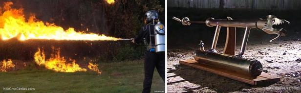 Flamethrower (kiri) Greek Fire (kanan)