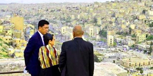 Menlu Retno melawat ke Yordania. (Twitter/Portal Kemenlu)