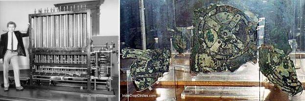 Komputer masa lalu (kiri) dan artefal Antikythera (kanan)
