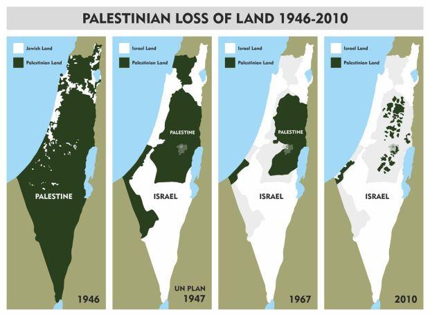 peta palestina map 1946-2010