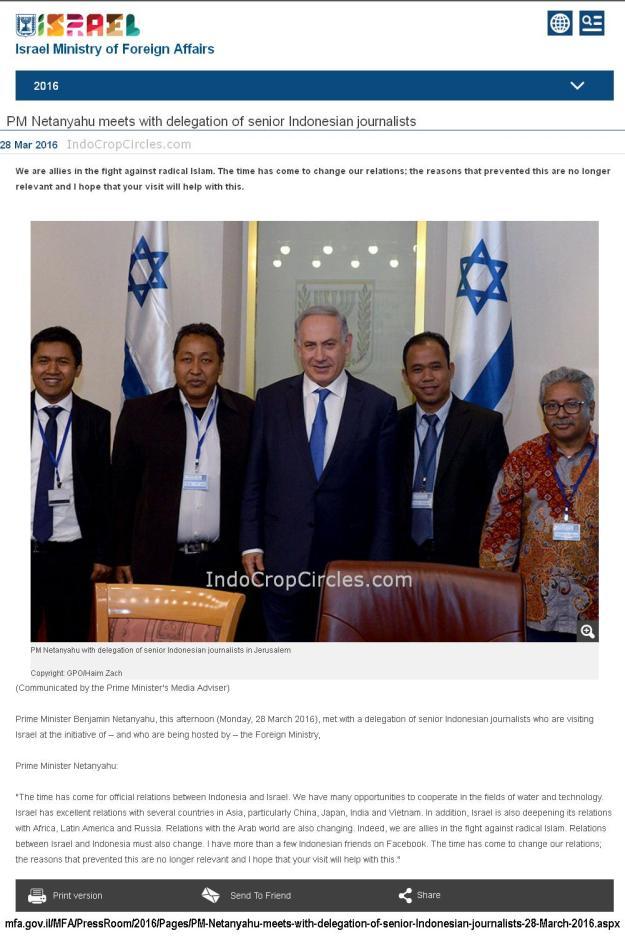 wartawan indonesia ke israel banner
