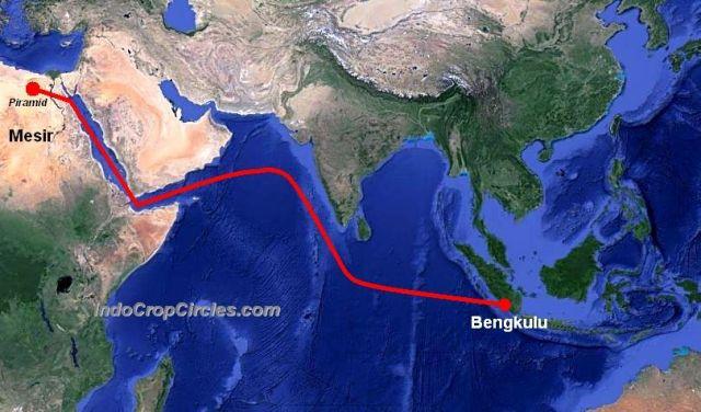 peta dunia jalur mesir ke indonesia