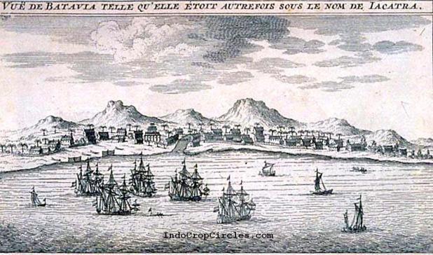 Lukisan pedesaan di Jayakarta (Batavia) pada sekitar tahun 1605 1608 (dilukis pada sekitar tahun 1675-1725)