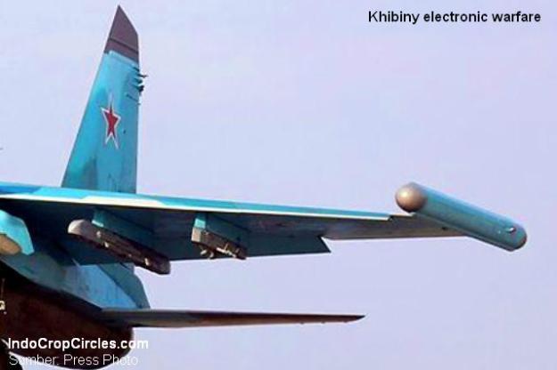 Setelah kru pesawat tempur menerima peringatan serangan misil, Khibiny langsung beraksi dengan mengaktifkan 'perlindungan radio elektronik'. (Sumber: Press Photo)