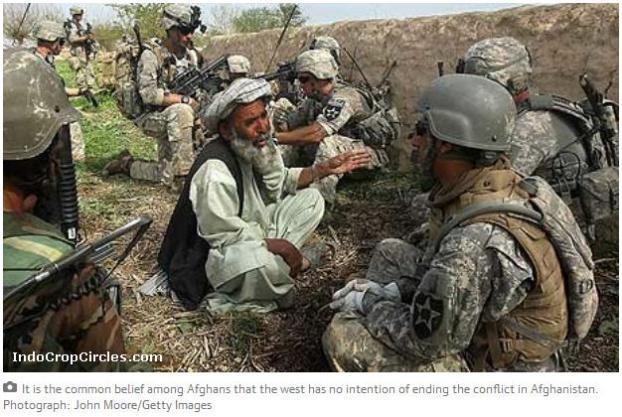 Tak ada tanda meredanya perang yang berlarut-larut antara AS dan Taliban, membuat warga Afghanistan tak pernah sejahtera dan menganggap Taliban didanai oleh AS sendiri.