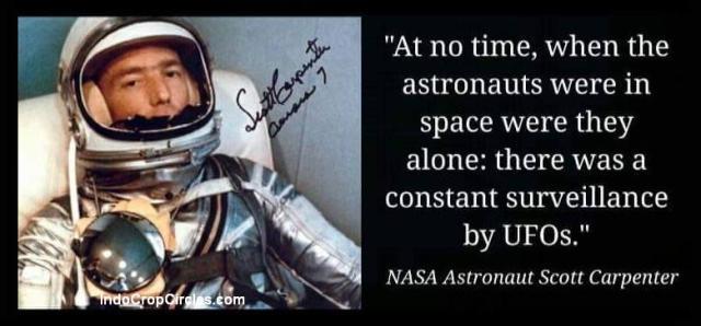 astronaut astronot lihat ufo