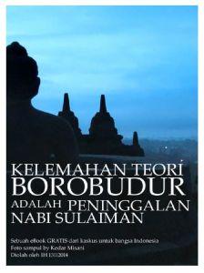"""Buku """"kelemahan teori Borobudur adalah peninggalan nabi Sulaiman"""""""