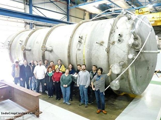 Scientists from The Microboone experiment aims to study how neutrinos interact and change within a distance of 500 meters. Particle detector from Deep Underground Neutrino Experiment (DUNE), that is filled with 170 tons of liquid argon. Liquid argon is crucial to the process. It is 40 per cent more dense than water, and neutrinos are more likely to interact with it. When a neutrino hits the nucleus of an argon atom in the detector, its collision creates a spray of subatomic particle debris. Tracking these particles allows scientists to reveal the type and properties of the neutrino that produced them.
