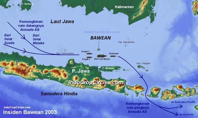 peta Insiden pulau Bawean map