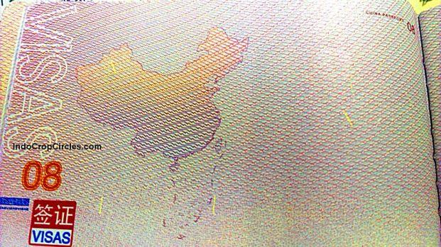 Passport Cina RRT terbaru menampilkan peta negaranya berikut garis Nine Dashed Line