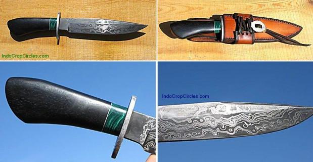 Pisau Damascus Meteorite Bowie Knife