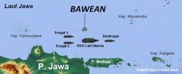 tragedi bawean peta pulau Bawean map