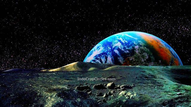 bumi terbit dari bulan earth rising from moon