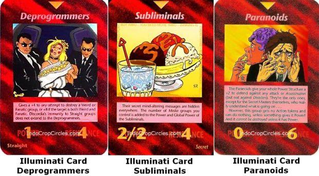 Illuminati Card: Deprogramming, Subliminals stimuli dan Paranoid kepada