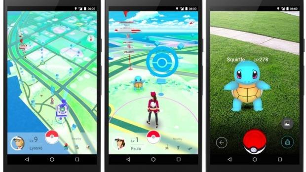 Pokemon GO memakai Google Street, dan foto barang-barang yang harus ditemukan memakai Google Street.
